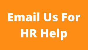 Call to action button, text reads Email Us for HR Helpp
