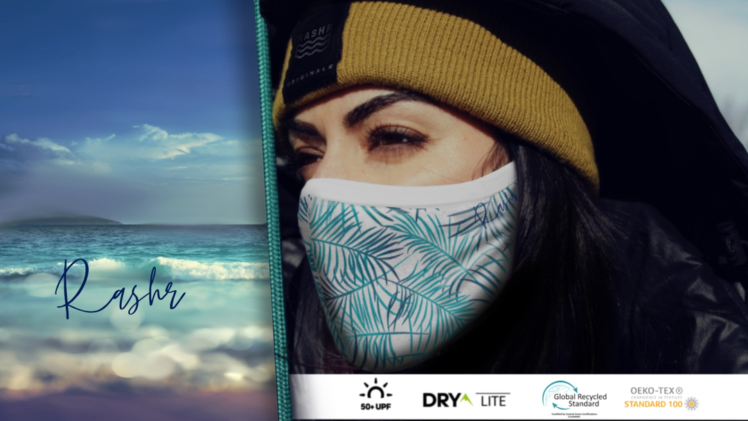 Face masks produced by recycled ocean plastic