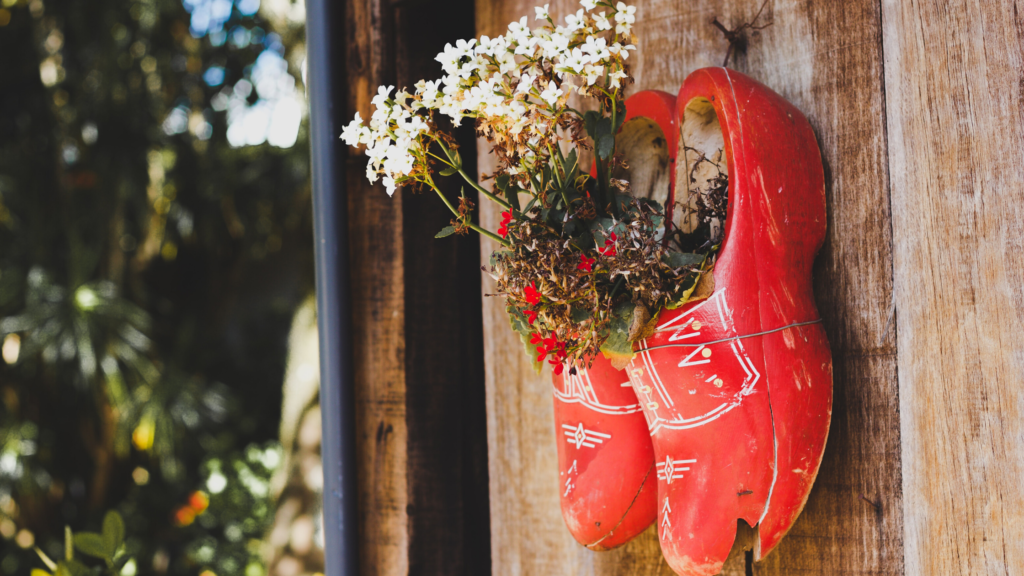 Red wooden clogs - a symbol of the Dutch culture