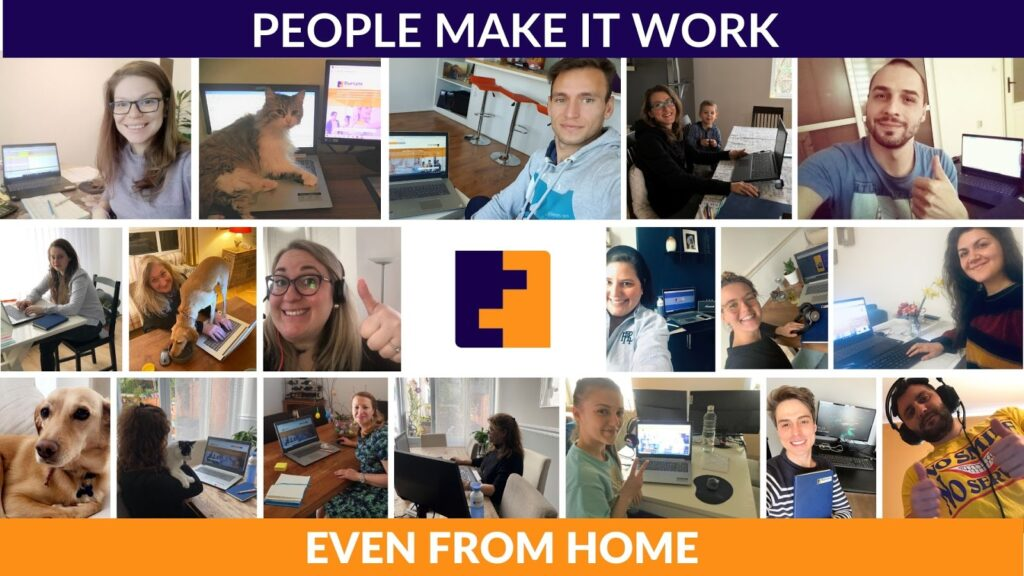 People make it work even from home Blue Lynx